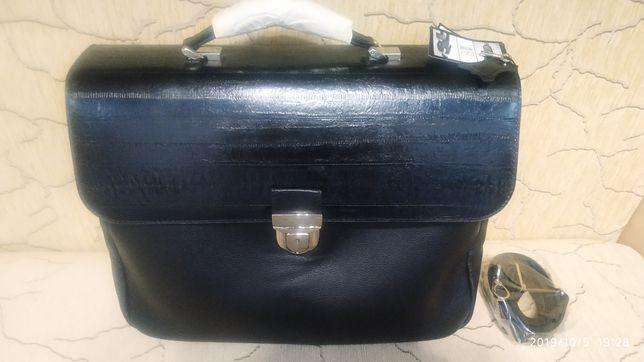 Портфель мужской сумка натуральная кожа VIF