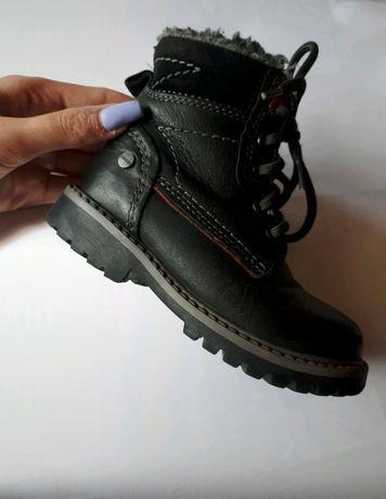 Buty zimowe trzewiki dziecięce dla chłopca lasocki bartek skórzane 25