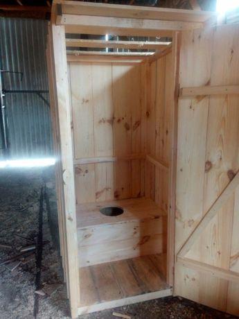 Туалет, душ деревянный