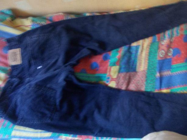 Spodnie Sztruksowe Levi's Strauss Granatowe Klasyczne i solidne