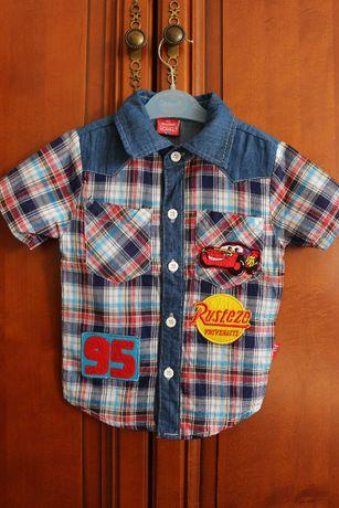 Рубашка для мальчика короткий рукав размер 90-95см