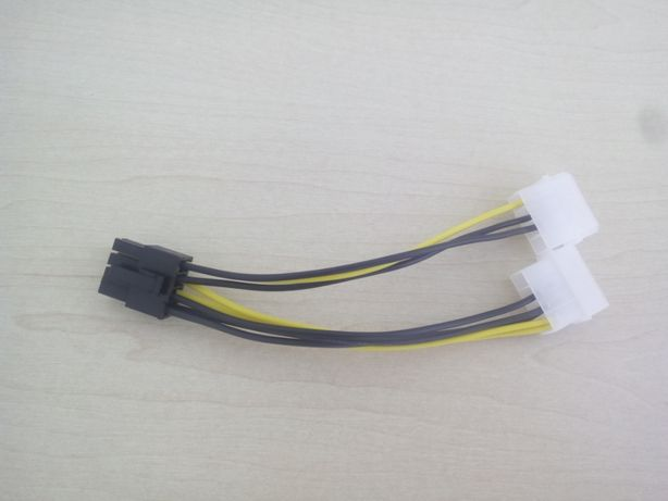 Кабель video power 8pin to 2molex додаткове живлення для відеокарт