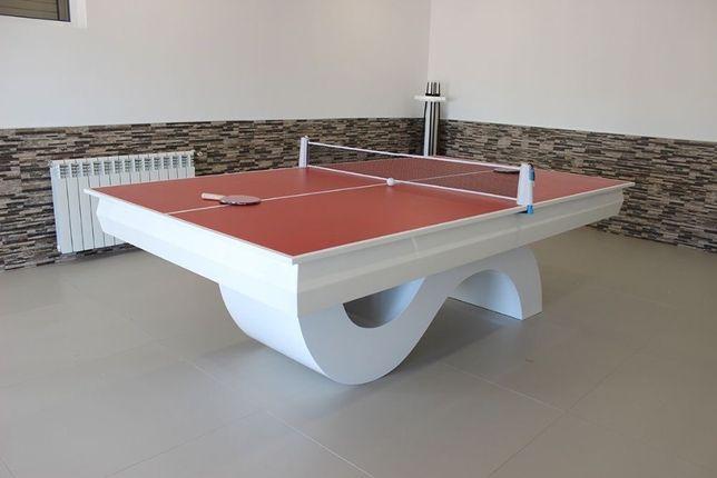 Bilhares Europa Fabricante mod Picasso oferta tampo jantar e Ping pong