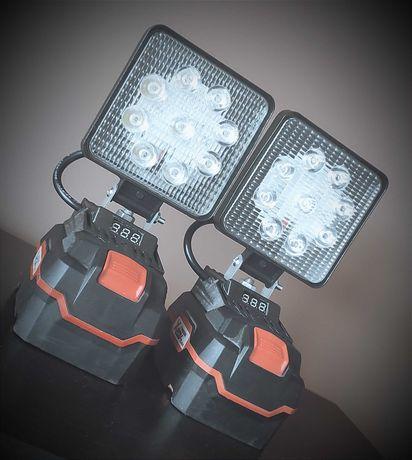 Lampa, halogen 27W Parkside X20V TEAM ON/OFF + miernik