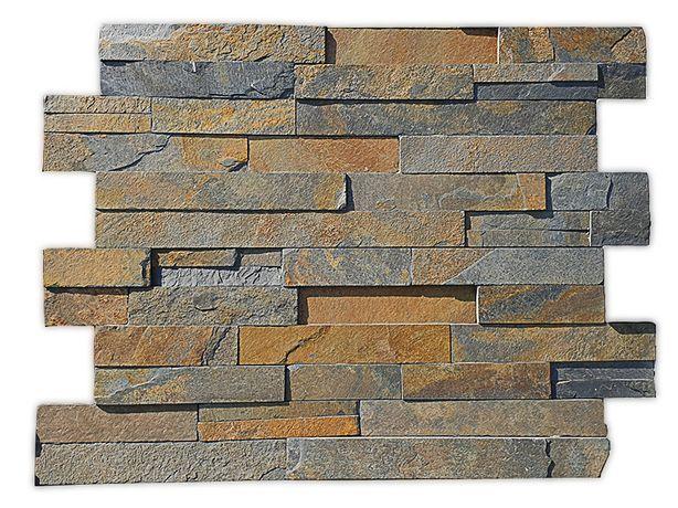 Panel Ścienny Multicolor 15x60x1,5cm Kamien Elewacyjny Dekoracyjny