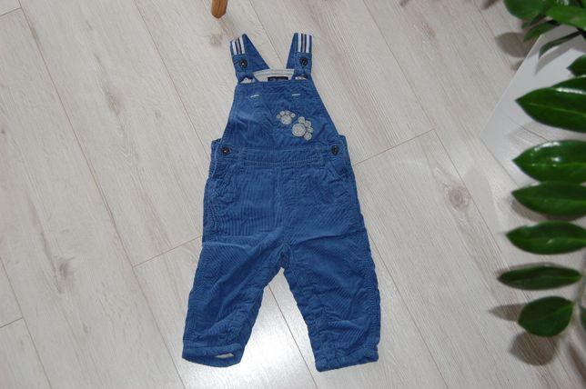 NOWE spodnie ogrodniczki Smyk 74, bardzo ciepłe