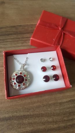 Komplet biżuteria wisiorek kolczyki Avon