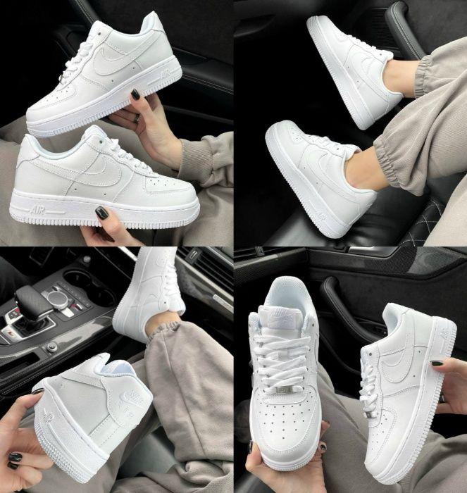 Женские кроссовки Nike Air Force 1 Low 07 White 36-41 Матовая Кожа! Киев - изображение 1