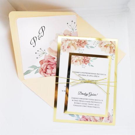 Zaproszenia ślubne w stylu GLAMOUR piwonie