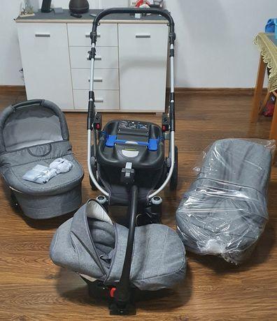 Wózek LARGO 4w1 głęboki, spacerówka,  fotelik, baza ISOFIX