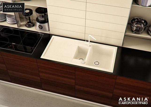 Кухонная Гранитная Мойка ASKANIA BLANCO 100, ВСЕ Цвета
