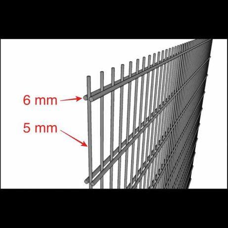 Panele ogrodzeniowe 2D drut 6/5/6 ocynk+Ral h=1430mm ogrodzeniowe HURT