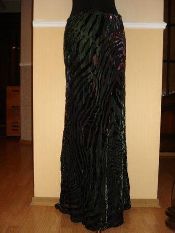 Шикарная шифонвелюровая юбка в пол на атласной подкладке resourse