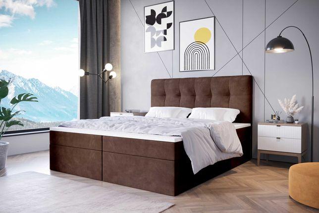 Łóżko kontynentalne tapicerowane DREAM 140/ 160/ 180x200 z pojemnikami