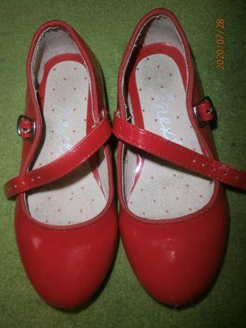 туфли красные лак