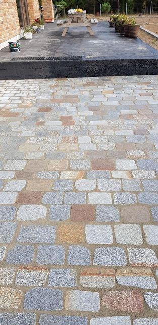Kostka granitowa bruk kocie łby starobruk brukowiec kamień rozbiorkowy