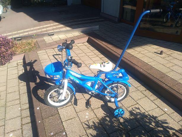 Rowerek dziecięcy, dodatkowe kółka, uchwyt do pchania