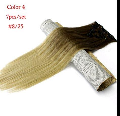 волосы омбре,амбре трессы волосы на заколках,омбре амбре пряди тресс в