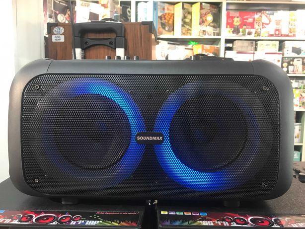 Портативная колонка  Soundmax SM-6616 100ВТ | Два микрофона