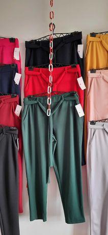 spodnie damskie z paskiem