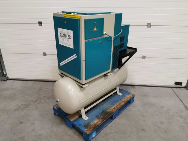 Sprężarka śrubowa 5.5kw RENNER kompresor 600l/min 15 BAR! OSUSZACZ