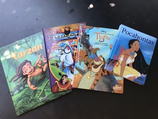 Livros criança / infantil - Tarzan Pocahontas Aventuras do Tigre Mulan
