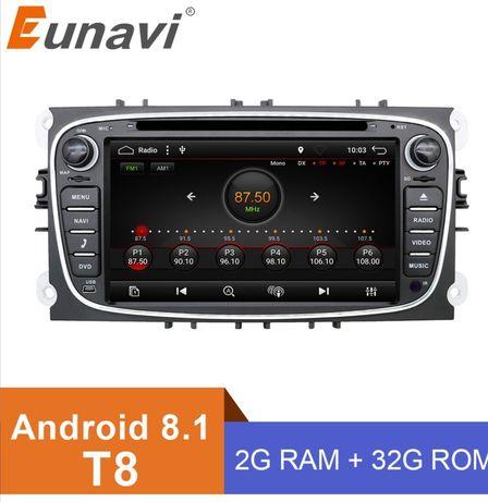 МагнитолаEunavi 2 din 7 дюймов Android 9  для Ford Focus MK2 / Mondeo