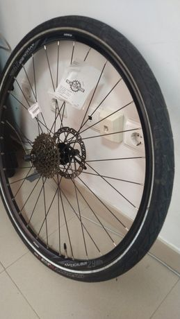 Roda traseira BTT (29) com pneu misto
