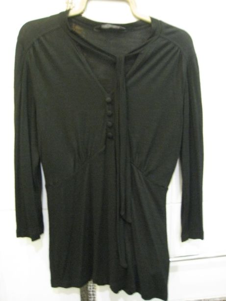 черная трикотажная блузка р.48