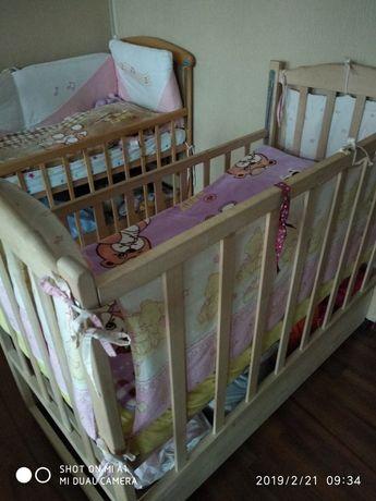 Детская кровать манеж