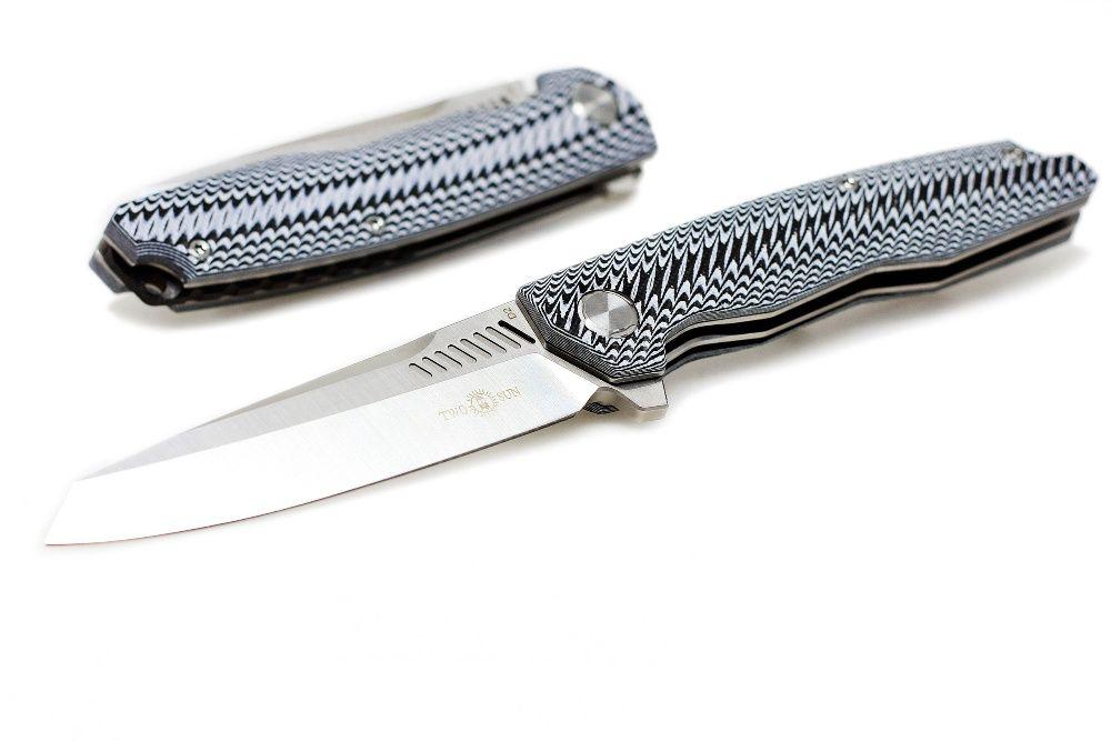 Nóż składany taktyczny stal D2 TwoSun TS16 EDC survival camping
