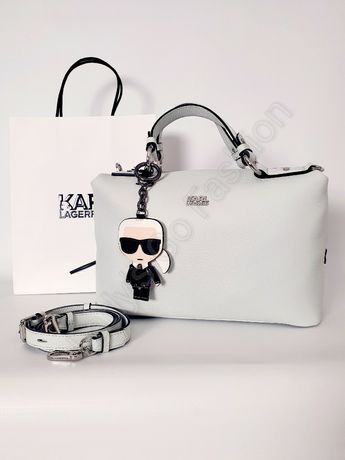 Torebka/Kuferek Karl Lagerfeld Pebble Bowling Bag