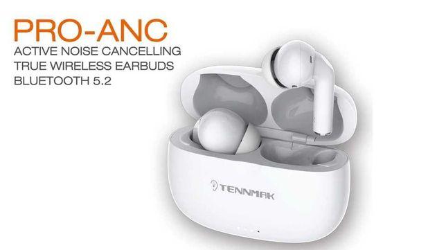 TENNMAK PRO-ANC Tws-fones de ouvido anc com cancelamento de ruído.