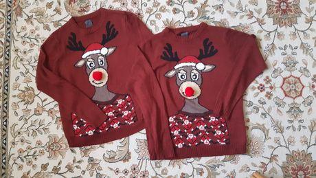 свитер новогодний, family look