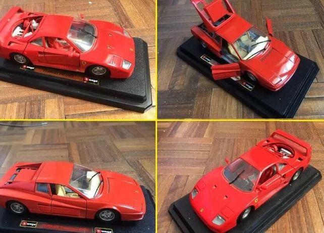 2 Réplicas Ferrari F40 & Ferrari Testarossa 1/24 BURAGO