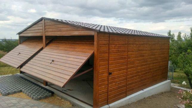 Garaż blaszak profil zamknięty 6x5 garaże blaszane drewnopodobne