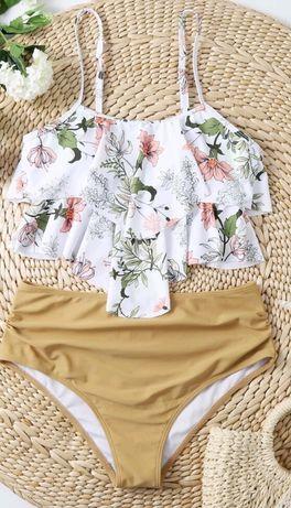 Tankini  dwuczęściowy strój kąpielowy L  wysoki stan