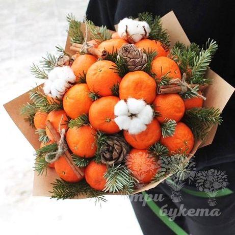 Зимние фруктовые букеты