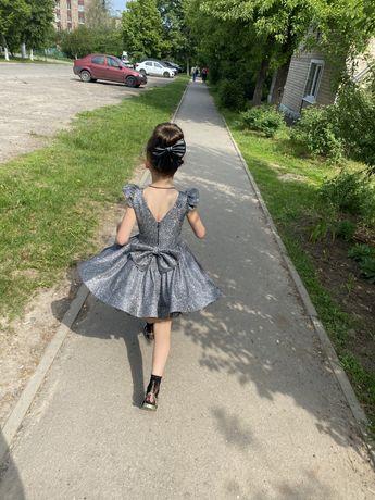 Платье блестящее, пышное , выпускное , нарядное , нарядное