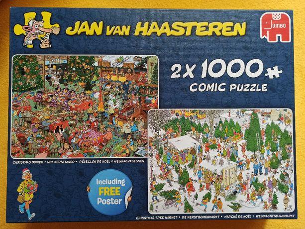 Puzzle Jumbo Jan van Haasteren 2x 1000 el (3 braki)