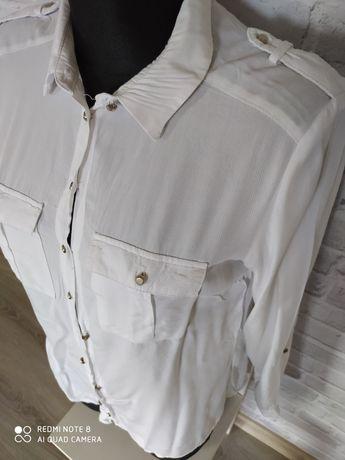 biała koszula z długim rękawem Reserved rozmiar M