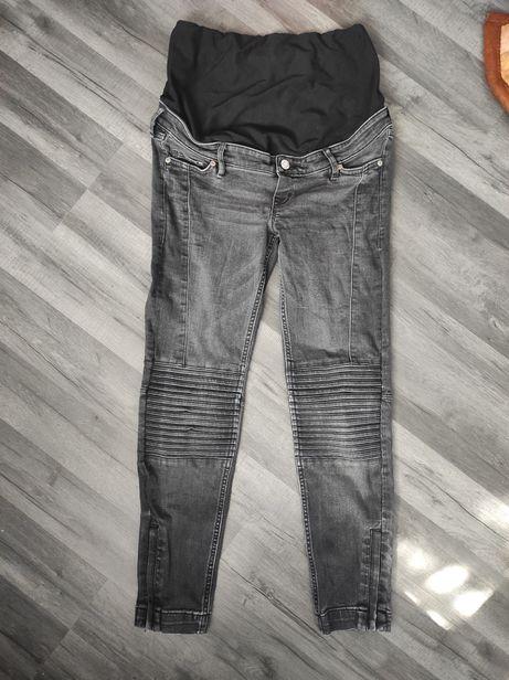 Tylko do CZWARTKU!   Szare spodnie ciążowe 38 skinny mama H&M