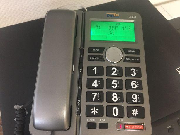 Telefon stacjonarny Dartel LJ-240 SILVER duże klawisze dla seniora j.n