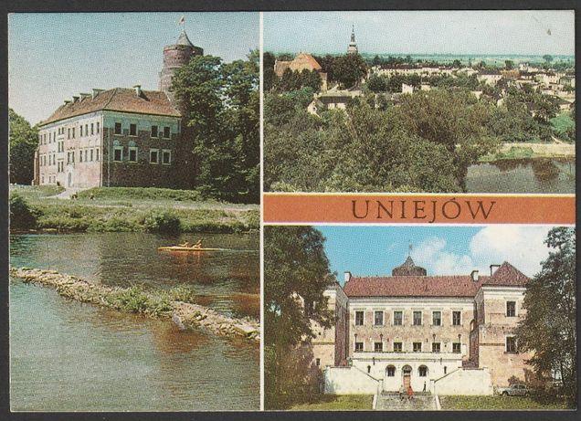 pocztówka - Uniejów 1979 - zamek - baszta - panorama