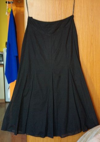 Spódnica typu syrenka bawełniana czarna długa gotycka