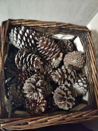 Sacas de 30 pinhas para lareira ou churrasco bem secas