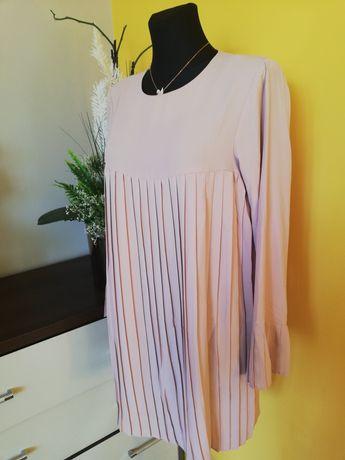 Mini sukienka plisowana L xl święta
