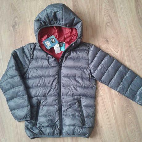 Nowa kurtka przejściowa r. 134cm szary melanż