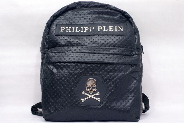 Новый Рюкзак Philipp Plein Черный Череп и кости