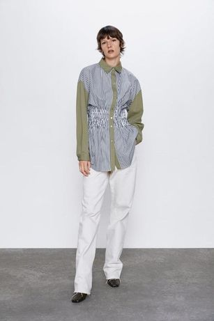 Стильная натуральная рубашка Zara